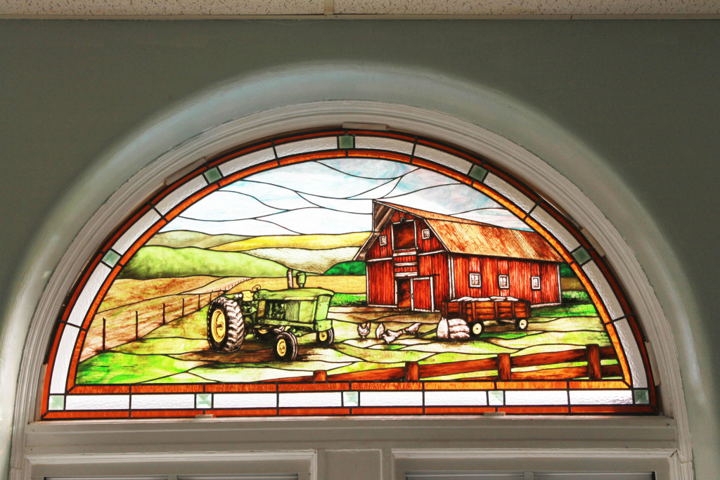 Stained Glass Windows in the Dining Area At The Noyes Home For Children