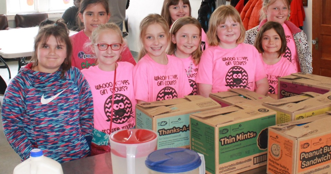 Thanks to Girl Scout Troop 4189