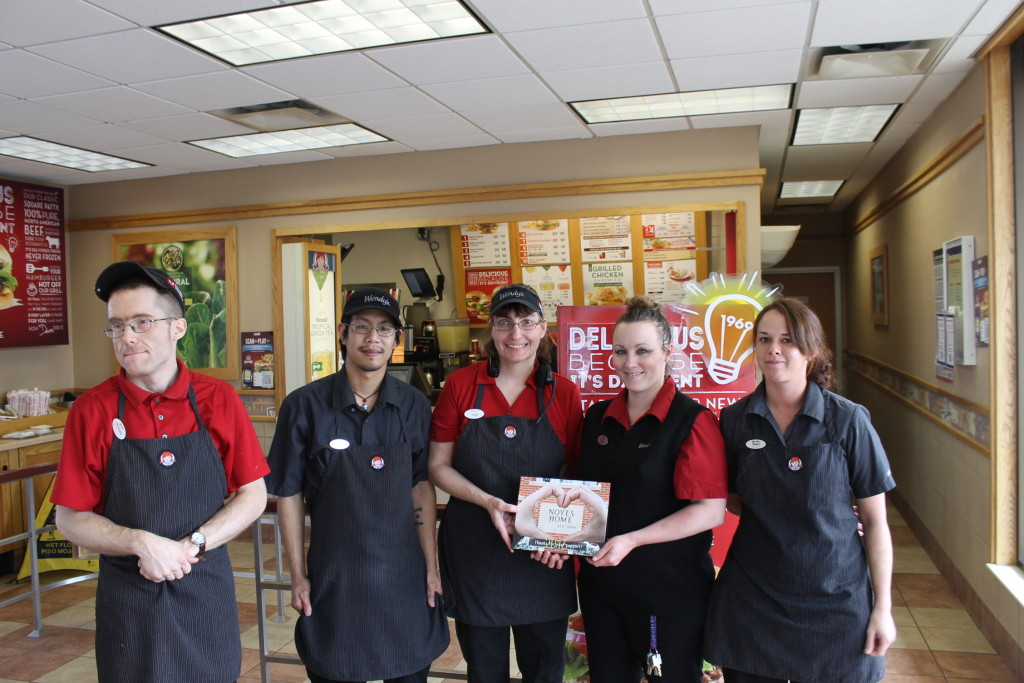 Thank you to Wendy's Hamburgers of St. Joseph Mo