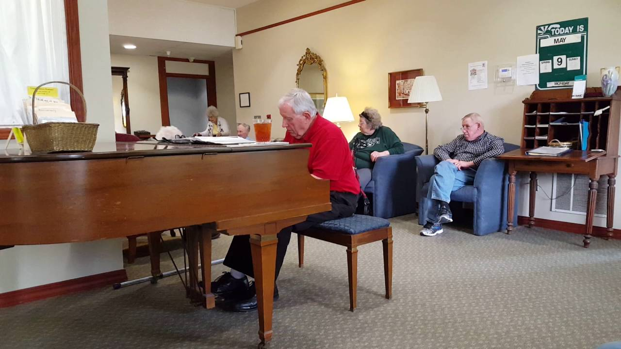 Thanks to st joseph mo piano player and volunteer john for Noyes home