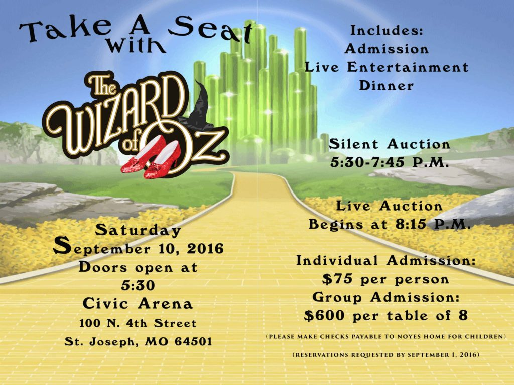 2016 Take A Seat With the Wizard of Oz