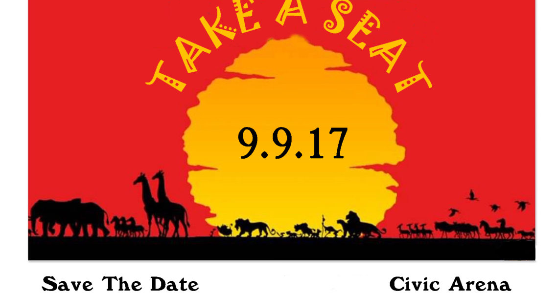 Take A Seat with The Lion King September 9th 2017