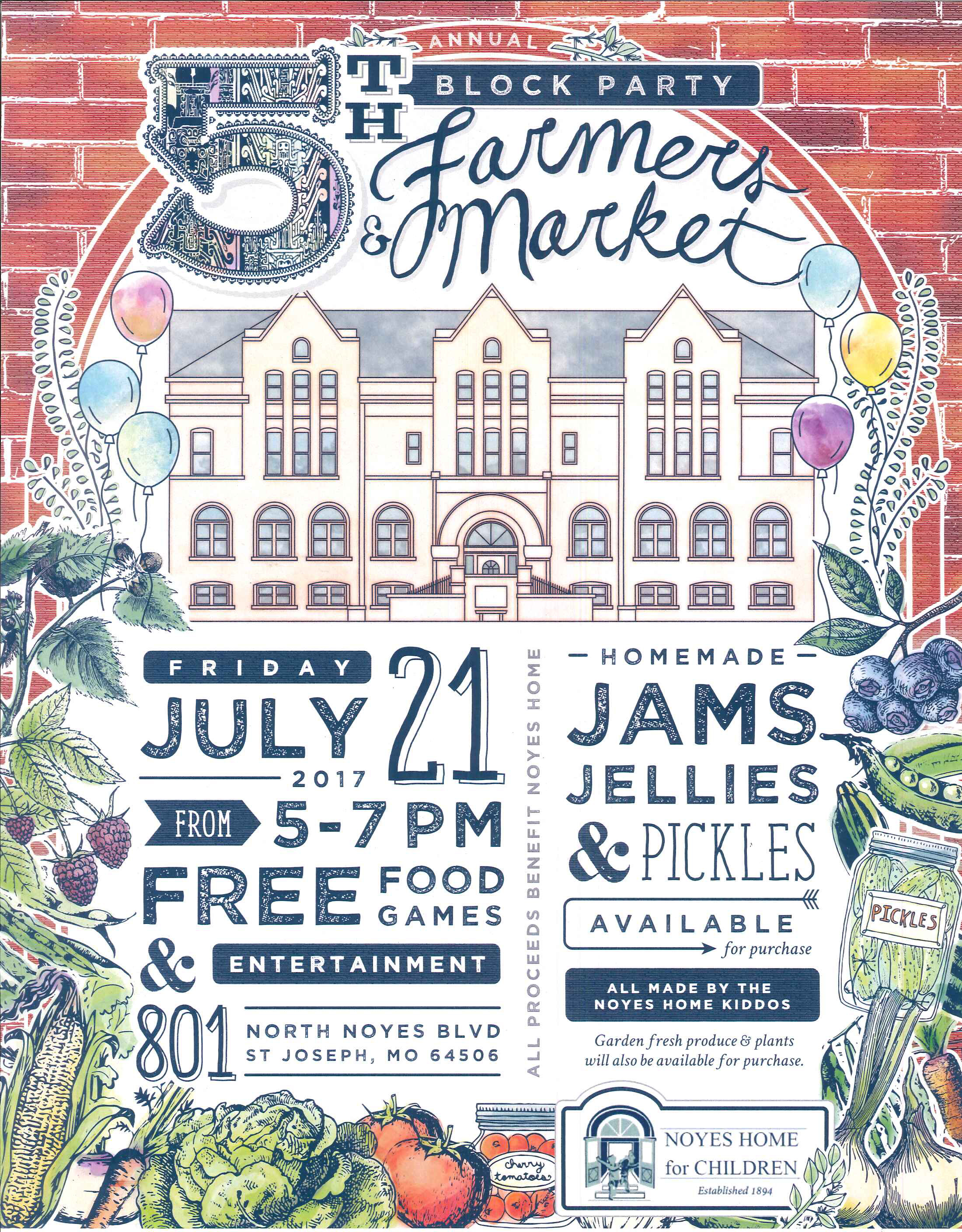 Noyes home block party july 21 2017 the noyes home for for Noyes home