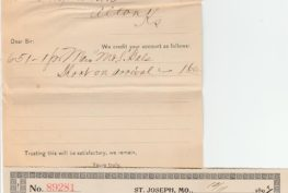 Norman Shoe Company 263x177 - Norman Shoe Company Receipt 1897