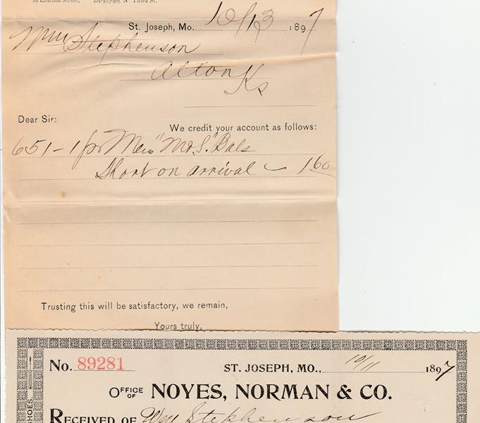 Norman Shoe Company 681x600 - Norman Shoe Company Receipt 1897
