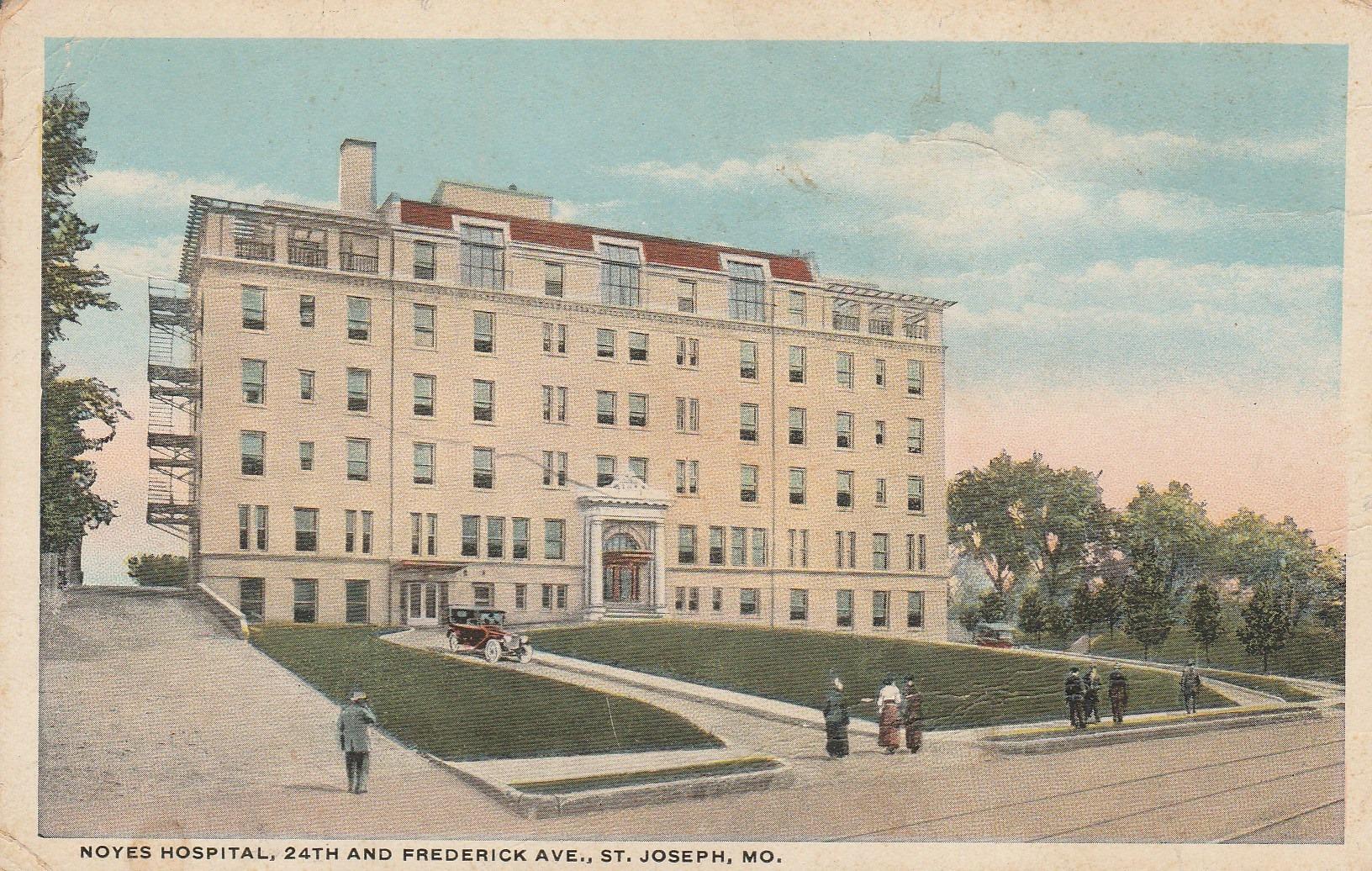 History of noyes hospital in st joseph mo aka frederick for Noyes home