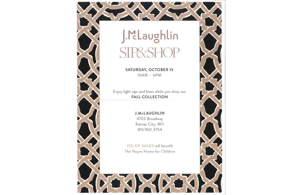 J.M 1 1024x684 - J.McLaughlin Sip & Shop to benefit Noyes Home for Children